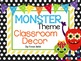 Monster Theme Classroom Basic Decor