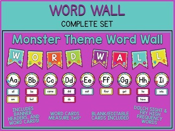 Monster Themed Classroom Bundle