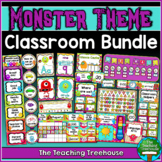 """A"" Monster Themed Classroom Bundle"