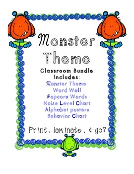 Monster Theme Classroom Bundle