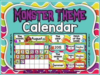 Monster Theme Calendar