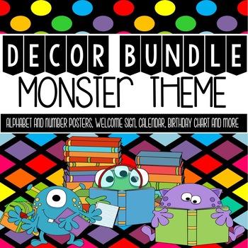Monster Theme Classroom Decor