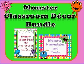 Monster Theme Classroom Decor Bundle