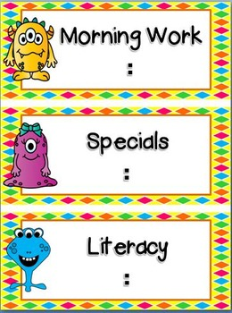 Monster Theme Classroom Decor Bundle