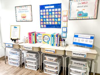 Monster Theme Classroom Essentials Teacher Set