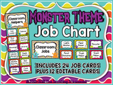 Monster Theme Job Chart