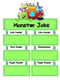 Monster Theme Classroom Jobs Poster Set
