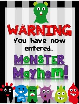 Classroom Decor - Monster Theme (Editable)