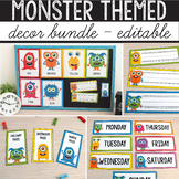Monster Theme Classroom MEGA BUNDLE - Monster Classroom Decor EDITABLE