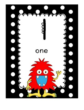 Monster Theme Classroom Math Pack