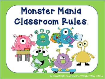 Monster Theme Classroom Rules (editable)