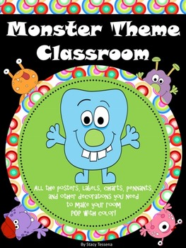 Monster Theme Classroom Set