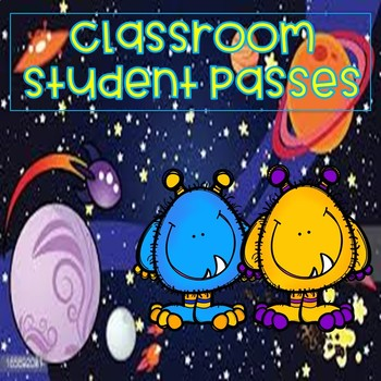Monster Theme Classroom Student Passes