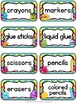 Monster Theme Supply Labels