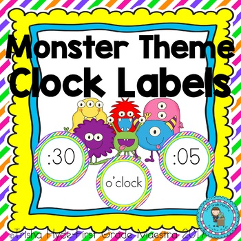 Monster Theme Clock Number and Labels