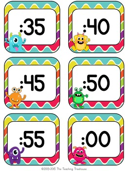 Monster Theme Clock Numbers