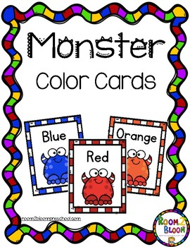 Monster Theme Color Cards