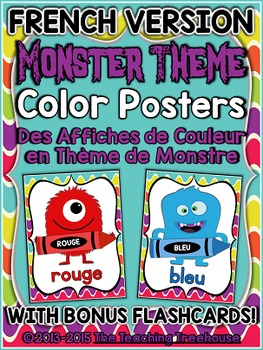 Monster Theme Color Posters FRENCH VERSION