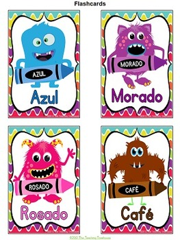 Monster Theme Color Posters ~ SPANISH VERSION