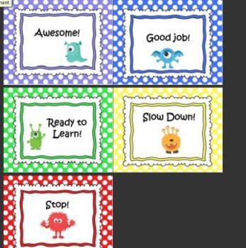 Monster Theme Combo- Behavior Chart/Word Wall Letters