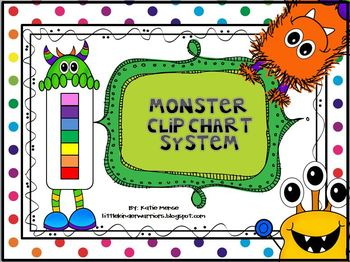 Monster Theme Complete Clip Chart System