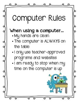 Monster Theme Computer Rules