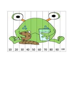 Monster Theme Counting by 10's Puzzles