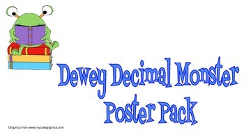 Monster Theme Dewey Decimal Poster Pack