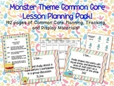 Monster Theme Grade Three Common Core Lesson Planning Pack