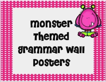 Monster Themed Grammar Wall