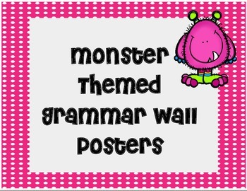 Monster Themed Grammar Wall