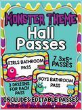 Monster Theme Hall Passes