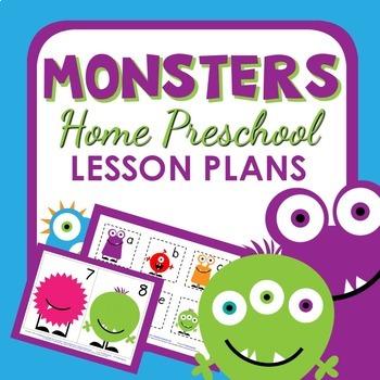 Monster Theme Home Preschool Lesson Plans