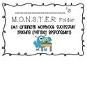 Monster Theme Homework Folder