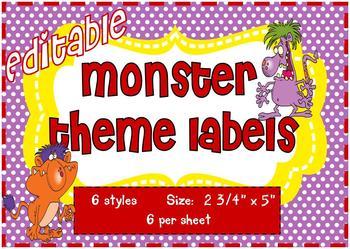 Monster Theme Labels (editable)