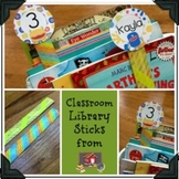 Monster Theme Library Sticks Toppers