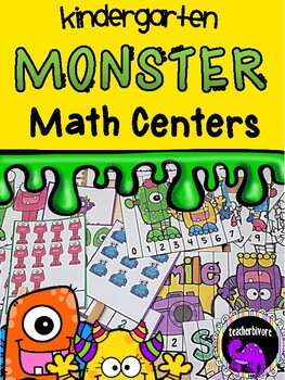 Monster Theme Math Centers for Kindergarten - Numbers to 20