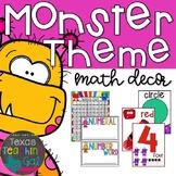 Monster Theme Math Decor