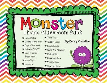 Monster Theme Mega Classroom Pack