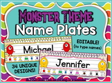 Monster Theme Name Plates