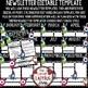 Newsletter Template Editable- Monster Theme Classroom