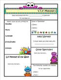 Monster Theme Newsletter Template - WORD