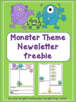 Monster Theme Newsletter {editable}