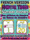 Monster Theme Number Posters FRENCH VERSION