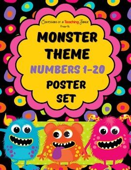 Monster Theme Number Posters Set 1-20