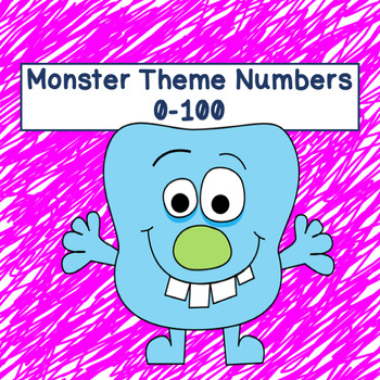 Monster Theme Numbers 0-100