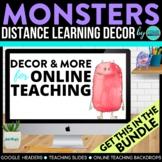 Monster Theme | Online Teaching Backdrop | Google Classroo
