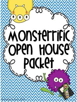 Monster Chevron Theme Open House / Meet the Teacher Pack {EDITABLE!}