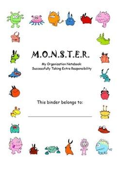 Monster Theme Organization Binder