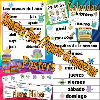 Monster Theme Pack - Spanish
